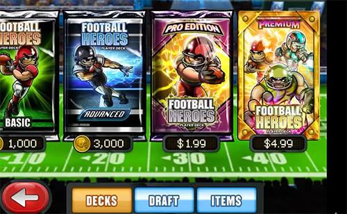 Arcade Football heroes online für das Smartphone