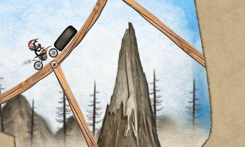 Le Motocross de montagne avec le Stickman pour iPhone gratuitement