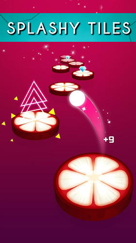 Splashy tiles: Bouncing to the fruit tiles screenshot 1
