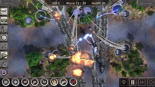 Strategiespiele Defense zone 3 für das Smartphone