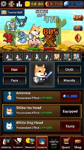 Arcade Dungeon and alchemist für das Smartphone