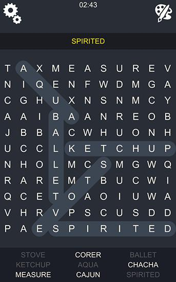 Logik Word search epic für das Smartphone