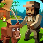 Pixel island survival 3D Symbol