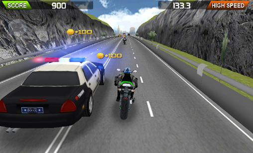 Arcade-Spiele Moto furious HD für das Smartphone