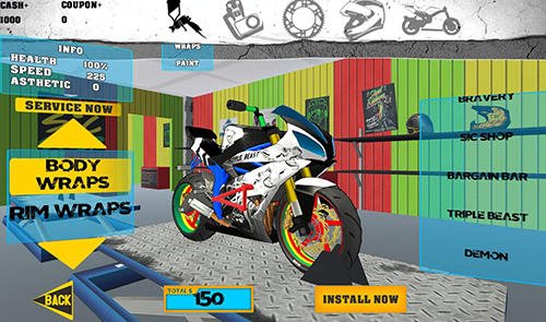 Stunt bike freestyle für Android