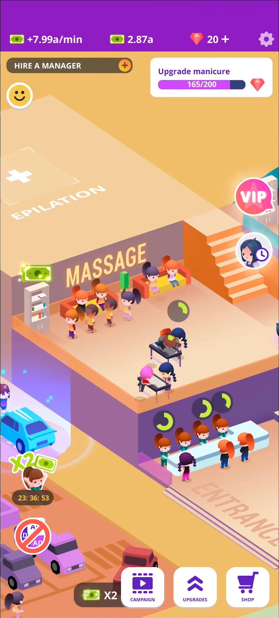 Idle Beauty Salon: Hair and nails parlor simulator スクリーンショット1