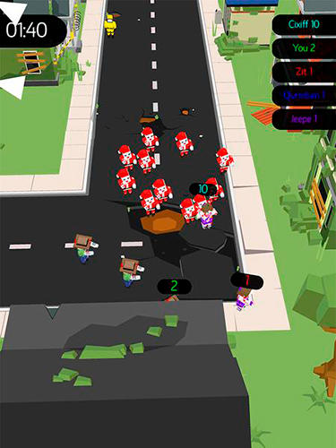 Zombie crowd in city after apocalypse für Android