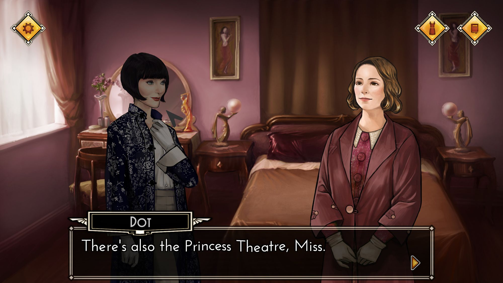 Miss Fisher's Murder Mysteries - detective game captura de pantalla 1