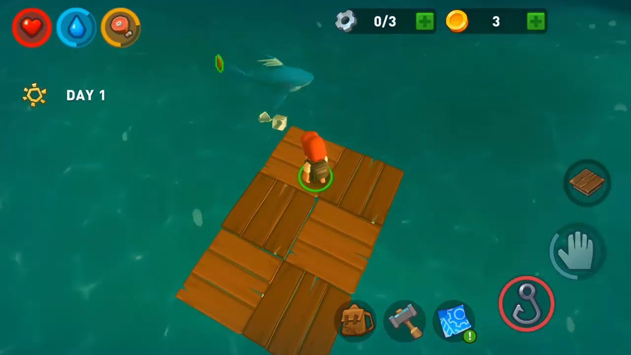 Epic Raft: Fighting Zombie Shark Survival スクリーンショット1