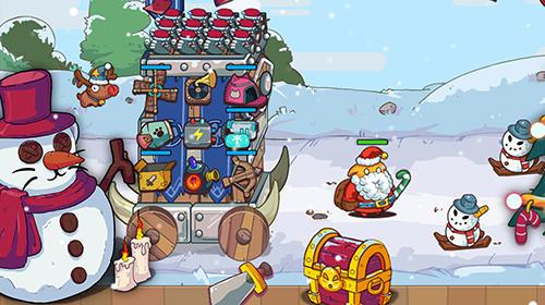 Arcade Cat'n'robot: Idle defense. Cute castle TD game für das Smartphone