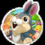 Easter bunny run Symbol