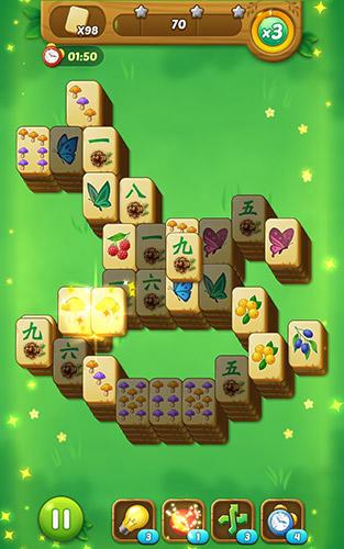 Brettspiele Mahjong forest journey für das Smartphone