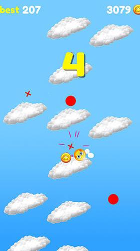 Sprungspiele Emoji sliding: Jumping down auf Deutsch