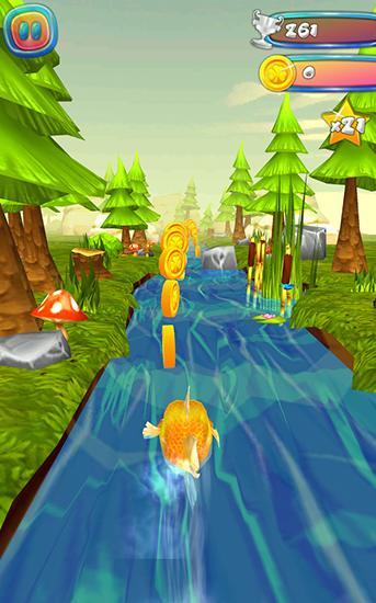 Arcade Choppy fish: 3D run für das Smartphone