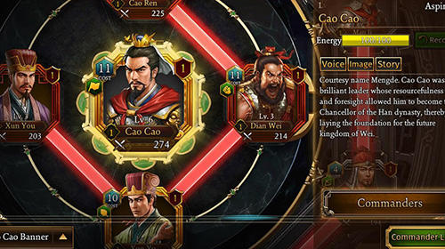 Romance of the three kingdoms: The legend of Cao Cao für Android