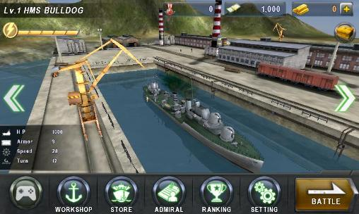 Simulation games Warship battle: 3D World war 2 for smartphone