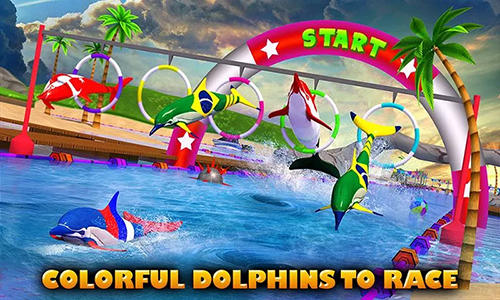Arcade Dolphin racing 3D for smartphone