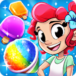 Tropical treats: Ice cream blast. Free match 3 Symbol
