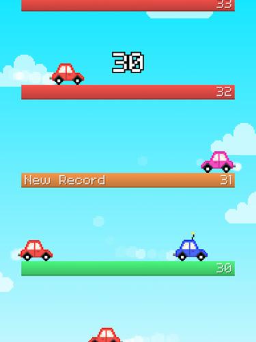 Screenshot Springendes Auto auf dem iPhone