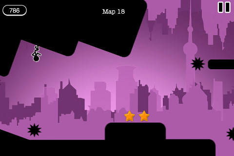 Screenshot Schwerkraft Strichmännchen auf dem iPhone