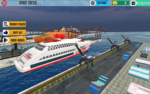 Simulation Cruise ship driving racer für das Smartphone