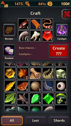 Juegos en línea Dungeon crusher: Soul hunters para teléfono inteligente