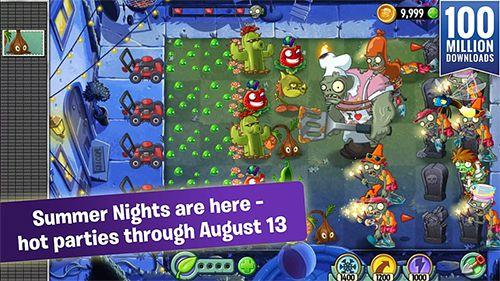 Pflanzen vs. Zombies 2. Sommernächte: Erdbeerexplosion für iPhone
