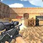 Sniper shoot fire war icône