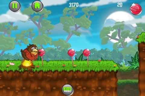 Die Flucht vom dicken Vogel Tony für iPhone