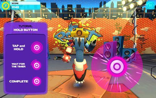 Screenshot Roboter Tanzparty auf dem iPhone