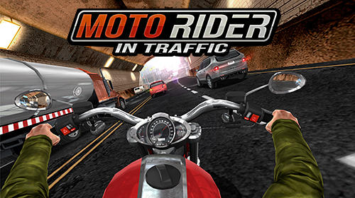 Moto rider in traffic Screenshot