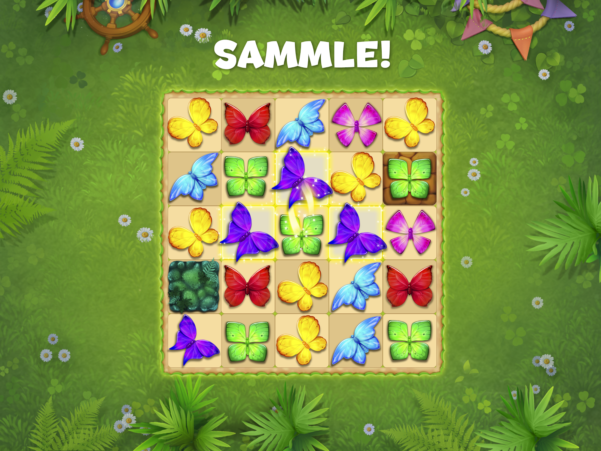 Butterfly Garden Mystery: Scapes Match 3 Story screenshot 1