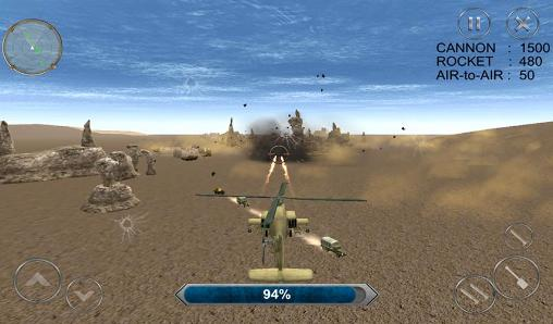 Gunship combat: Helicopter war pour Android