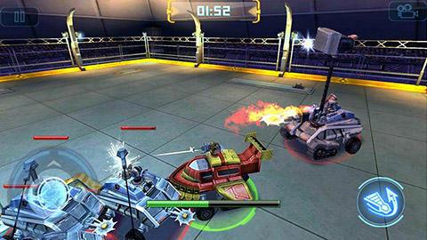 Robot crash fight auf Deutsch