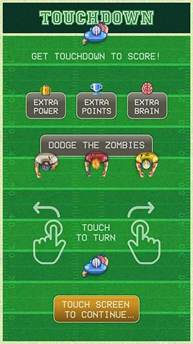 Arcade-Spiele Footbrain: Football and zombies für das Smartphone