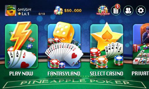 Apuestas DH: Pineapple poker para teléfono inteligente
