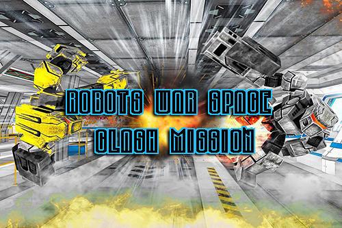 Robots war space clash mission Symbol