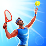 Tennis clash: 3D sports Symbol