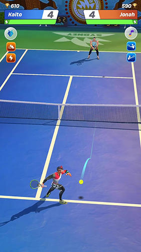 Tennis clash: 3D sports in English
