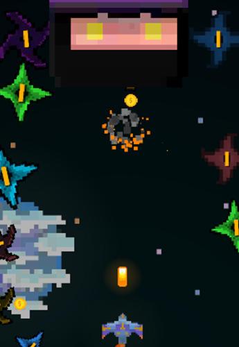 Arcade-Spiele Pixel space blast für das Smartphone