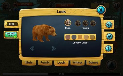 Wild bear simulator 3D en français