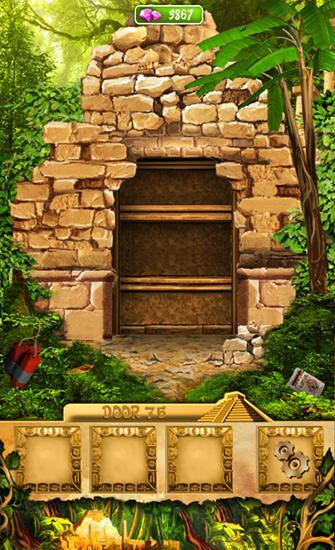 Abenteuer-Spiele 100 doors: Lost temple für das Smartphone