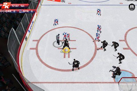 Screenshot NHL 2K auf dem iPhone