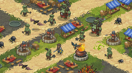 Strategie Orcs warriors: Offline tower defense für das Smartphone