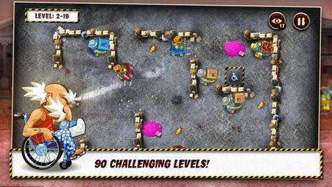 Captura de tela Vovozinho e os zumbis: Cuide do seu cérebro! no iPhone
