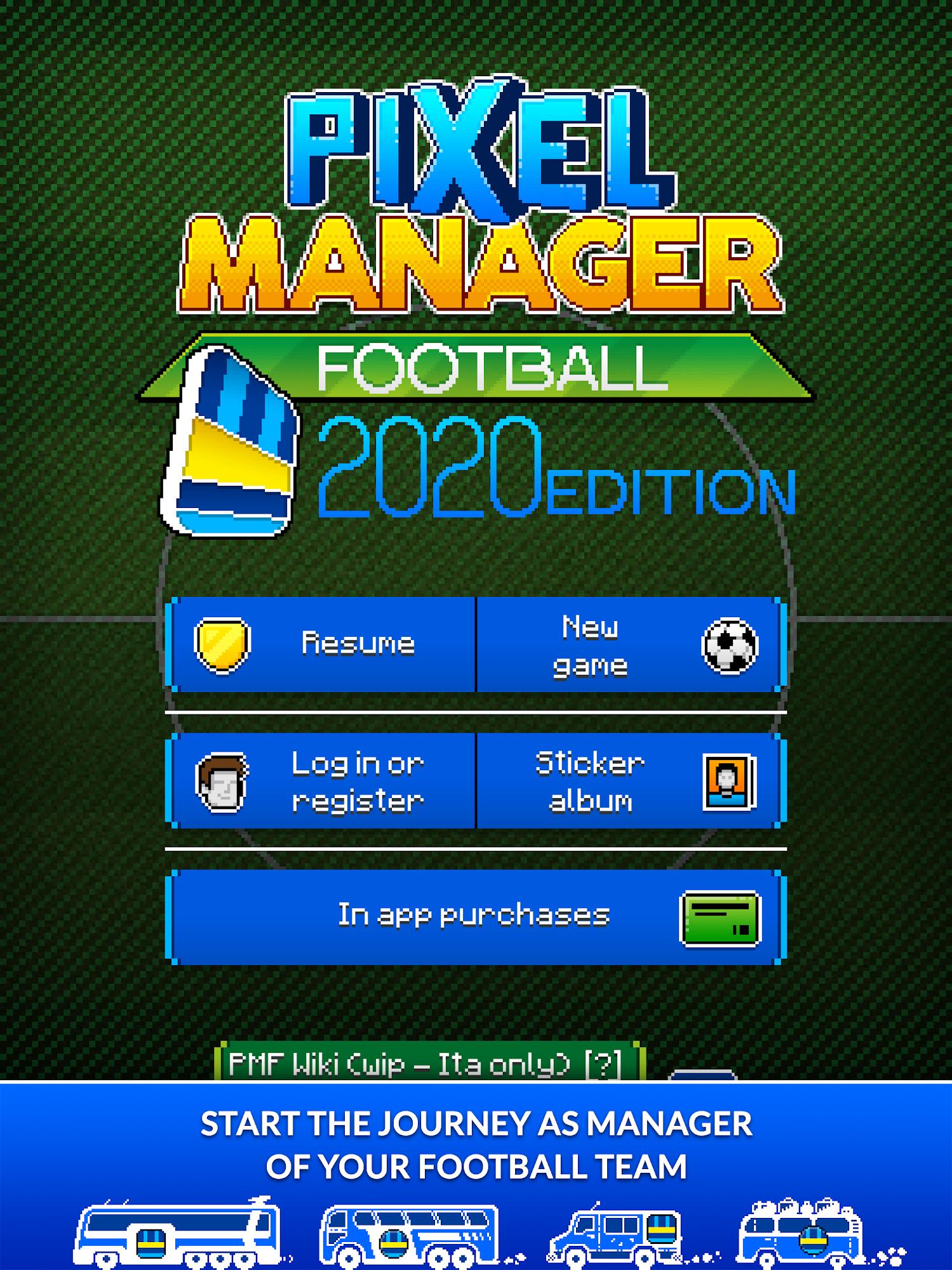 Pixel Manager: Football 2020 Edition スクリーンショット1