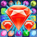 Jewels legend: Island of puzzle. Jewels star gems match 3 Symbol