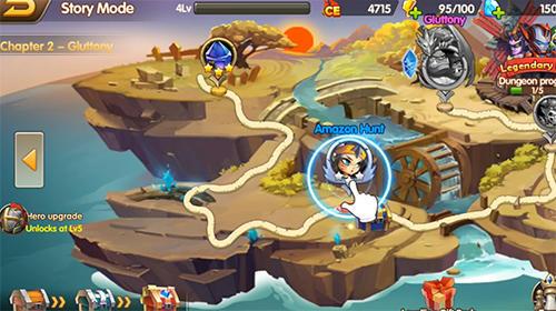RPG Super heroes galaxy: Olympus rising für das Smartphone