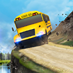 School bus: Up hill driving Symbol