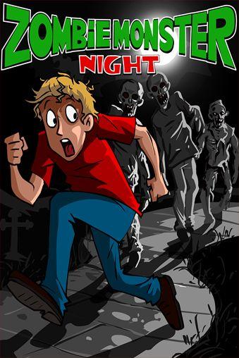 логотип Ночь зомби монстров